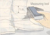 Illustration of a measuring tool being used on a plaster model